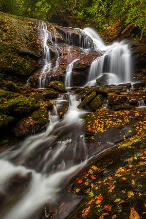 North Carolina Back Woods Waterfall Portrait