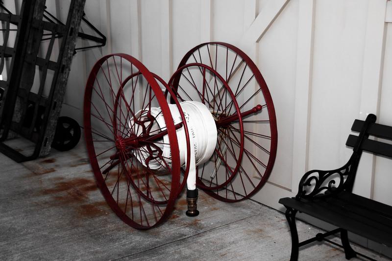 Antique Fire Hose Reel