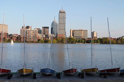 Boats on Charles River May 2012