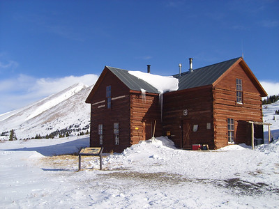 Section House Hut at the top of Boreas Pass in Colorado