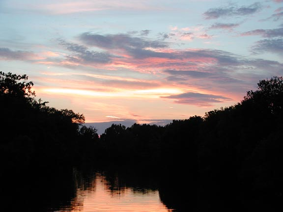 Beautiful Sunset over Little River near my house<br /> Walland TN July 17, 2007