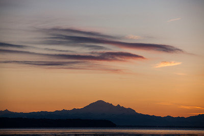 Sunrise over Mount Baker