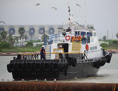 Crewboad Gladys D departs.