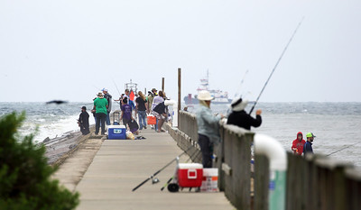 Lots of  fishing from the Surfside dock