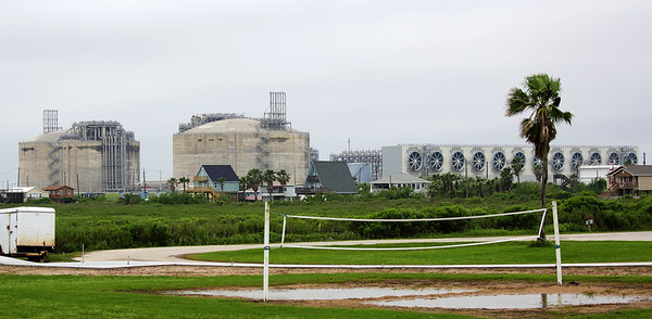 Two Freeport LNG trains under construction
