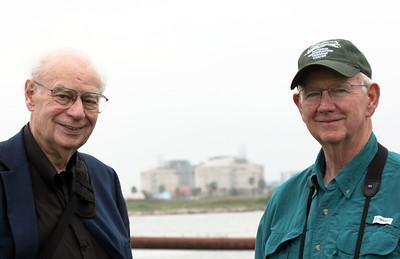 Foreground: John Lienhard & David Plunkett.  Background: LNG facility