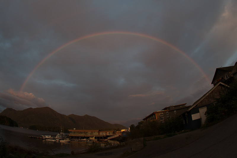 Rainbow over Tofino