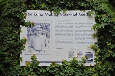 Edna Walling Memorial Garden Information - Buderim Forest Park, Monday 8 March 2010 - handheld photos.