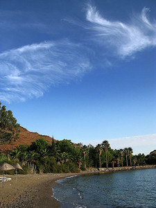 Wonderful clouds in HAYIT Bay