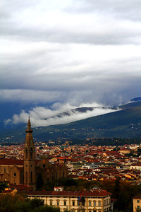 Low Flying Clouds in Florence, Italy