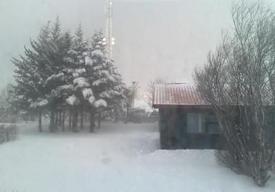 Útsýnið af Veðurstofunni 7. febrúar 2008.