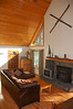 The main living space at the cabin.  The cabinet by the front door contains board and video games for all ages.