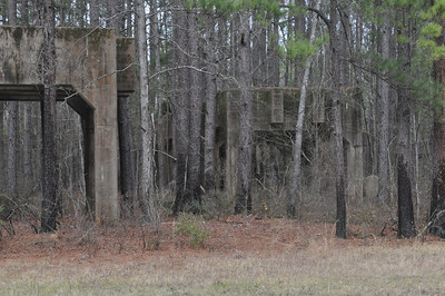 Foundations that originally held huge silos of acid used in the manufacture of Army Munitions.