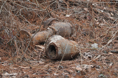 Odd junk laying around left over from demolishing a bunker