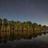 The bayou at night.