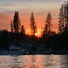 Sunset over Bass Lake, CA