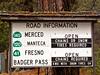 Sign Yosemite Roads<br /> Yosemite NP, CA
