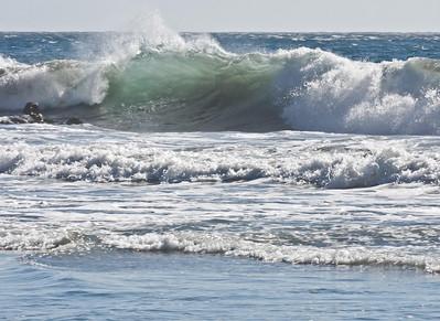 The rhythm of the waves.