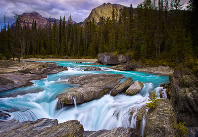 Upstream of Natural Bridge, Yoho National Park