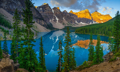 Moraine Lake Sunrise Pano