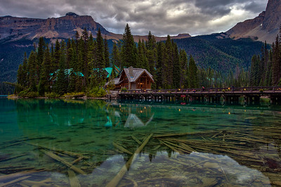 Dusk at Emerald Lake Lodge