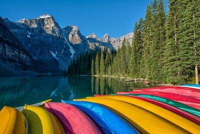 Moraine Lake Canoes