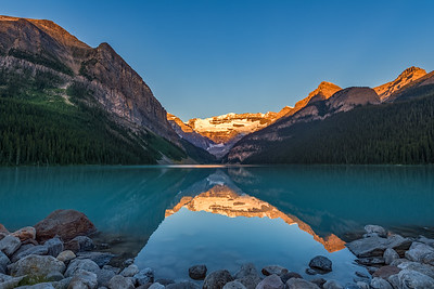 First Light at Lake Louise