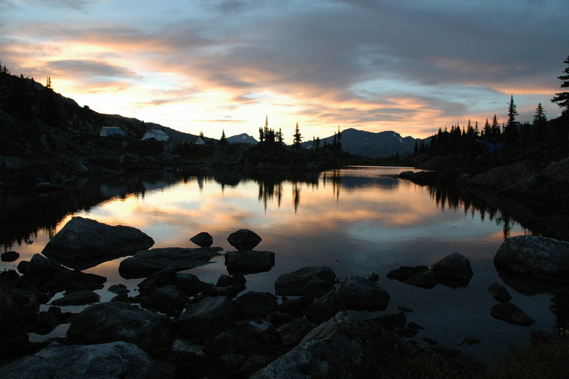 Sunset in the Canadian Rockies, near McBride, British Columbia