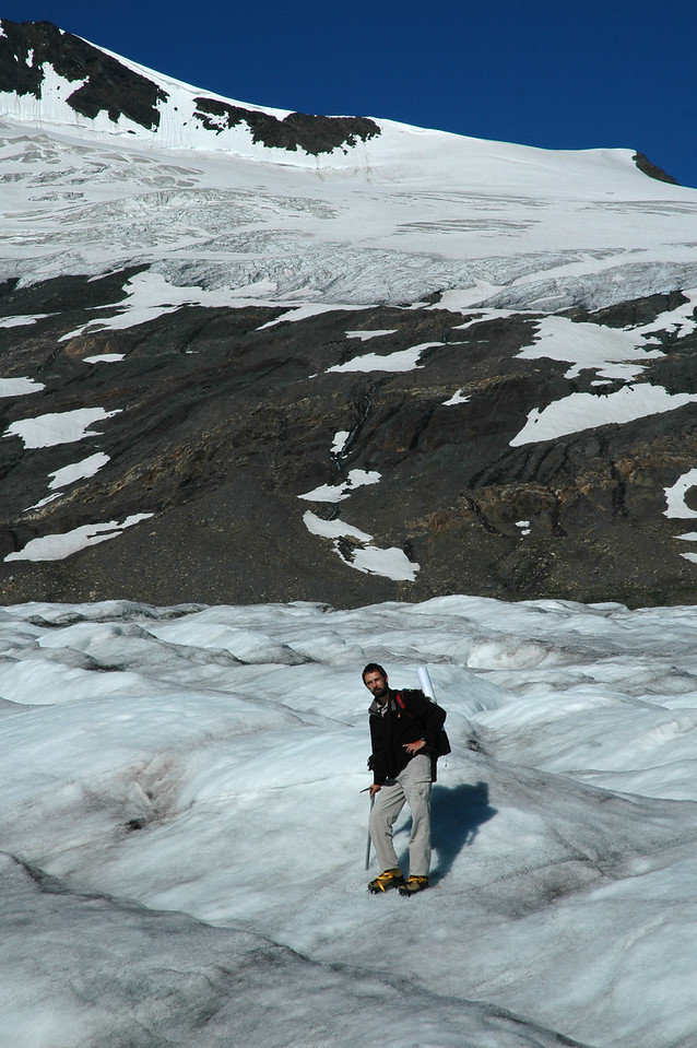 Crossing the glacier