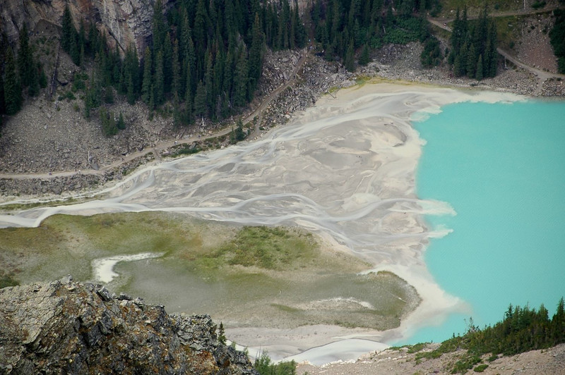 The lakehead delta of Lake Louise