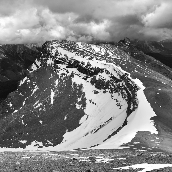 Looking back on Helena Ridge from Helena Peak