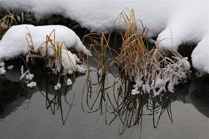 Snow & water art