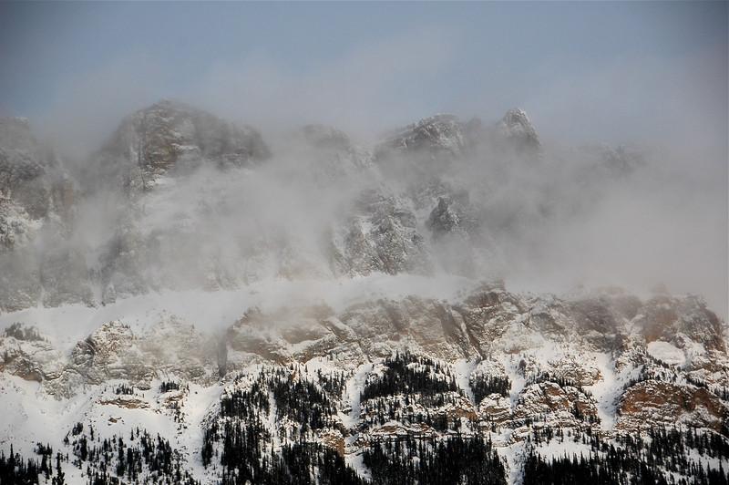Fog over Castle Mountain