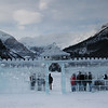 Ice castle on Lake Louise