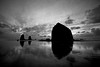 Haystack Rock stands the test of time, anchoring the shores of Cannon Beach in the beautiful black and white seascape.