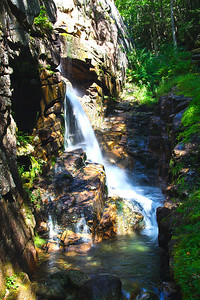 Franconia Notch State Park Gorge Waterfall, NH #3635
