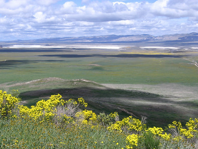 Once we started up the road to the Caliente Mountain trail there were great vistas of Soda Lake and the wide plain to the north.