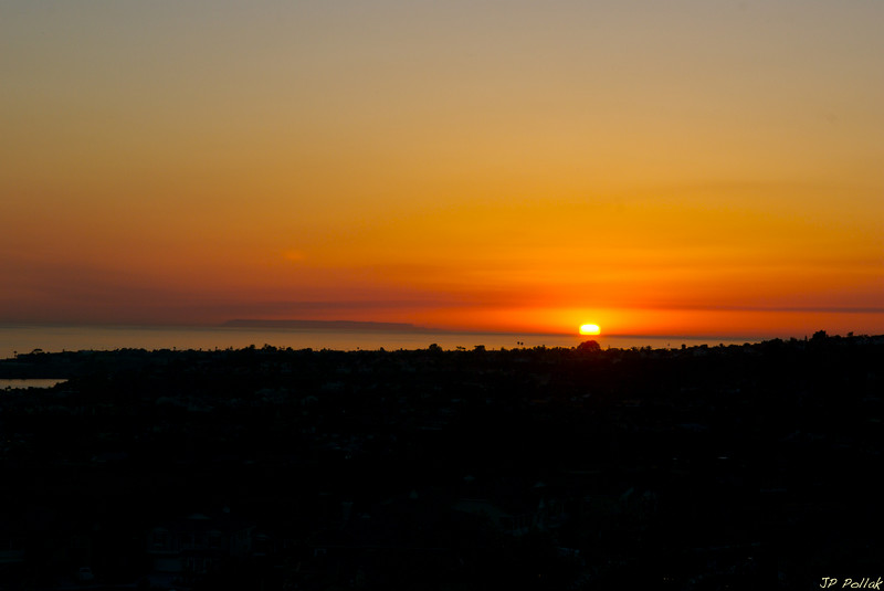 Carlsbad Sunset with Santa Catalina Island