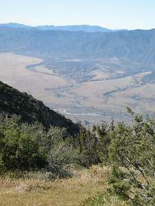 A view southward into the New Cuyama valley.