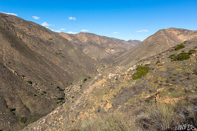 A shot of the San Diego River Valley.  In another two months, the sides should be covered in green.