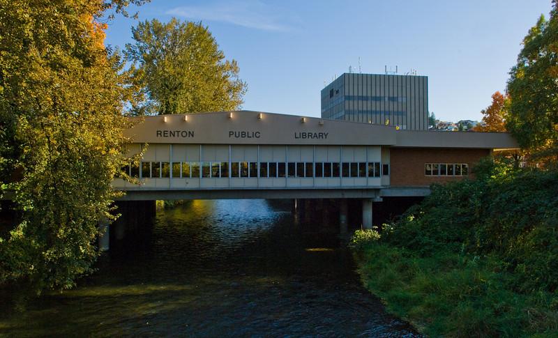 Renton Library over the Cedar River
