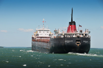 Steaming up the St. Mary's River towards the Soo Locks