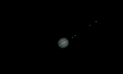 Jupiter in March.  Close enough for some nice telescopic images