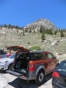 The Element at Onion Valley trailhead parking lot