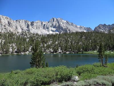 Flower Lake, with University Peak (13,632 feet)