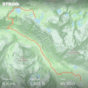 Fourth day hike from Center Basin to Kearsarge Lakes