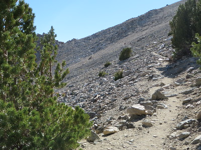 Final portion of trail on ascent to Kearsarge Pass
