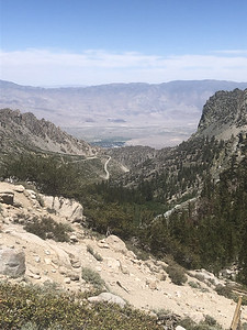 Onion Valley access road, Independence, and the Inyo Mountains beyond