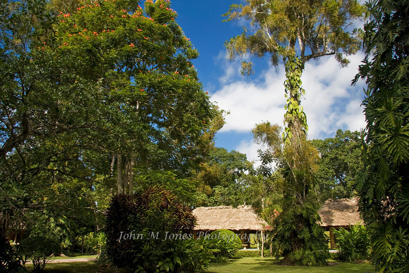 Grounds of the Chan Chich Resort, Belize