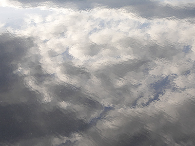 Cloud reflections on water